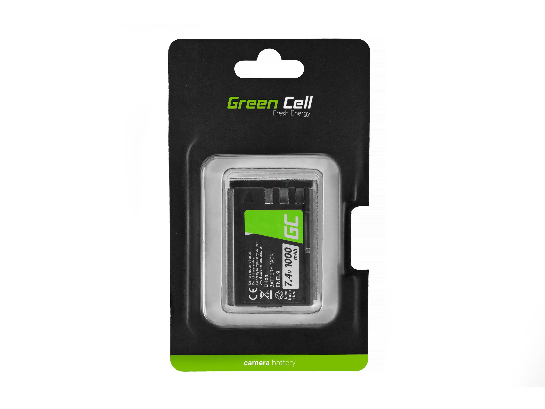 Green Cell Camera Battery for Nikon D-SLR D40 D60 D3000 D5000 7.4V
