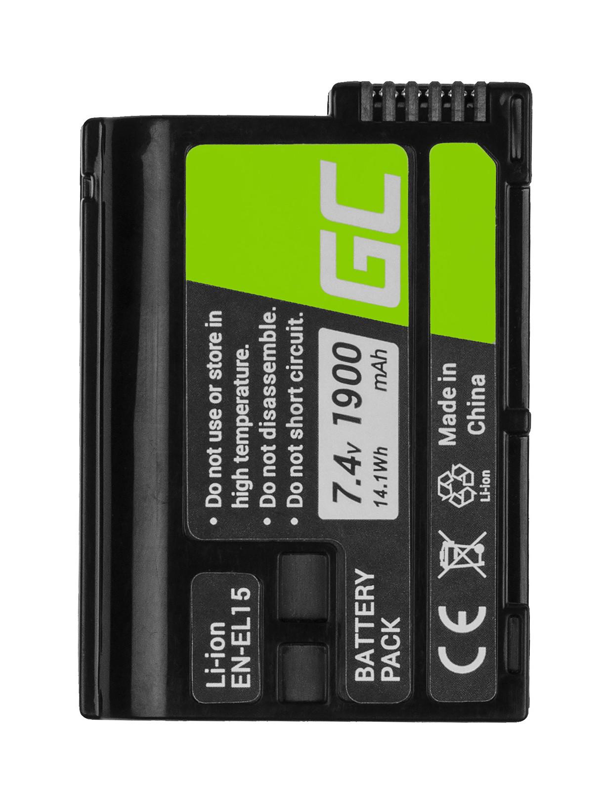 Green Cell Camera Battery for Cell Nikon D600 D800 D7000 D8000 7.0V