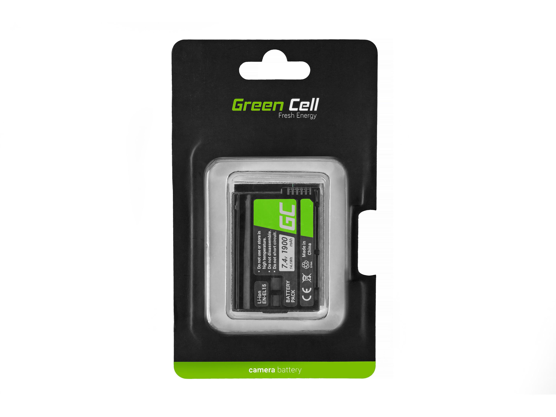 Green Cell Baterie pro Cell Nikon D600 D800 D7000 D8000 7.0V