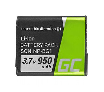 Green Cell Baterie pro Sony DSC H10 H20 H50 HX5 HX10 T50 W50 W70 3.7V