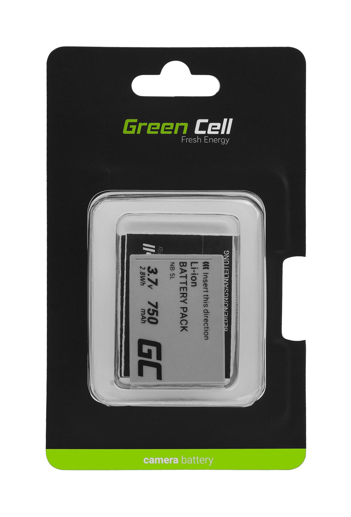 NB-5L Green Cell Camera Battery for Canon Digital IXUS 800 860 Digital IXY 800 2000 Powershot S110 SD790