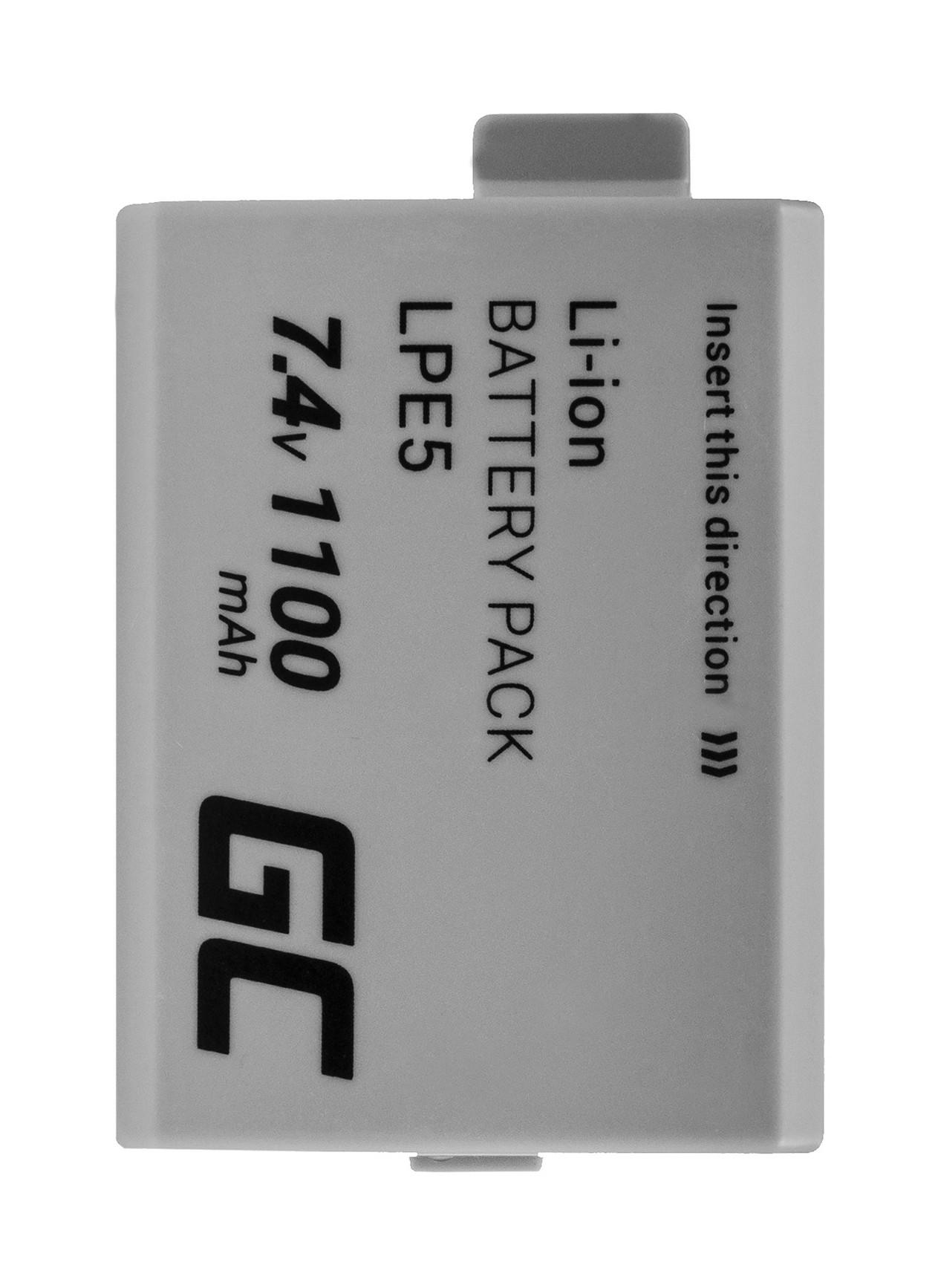 Green Cell Camera Battery for Canon LP-E5 EOS 450D 500D 1000D