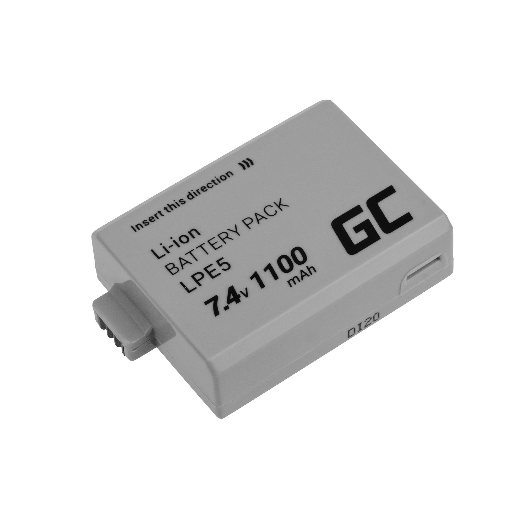 Baterie Green Cell Canon LP-E5, pro Canon LP-E5 EOS 450D 500D 1000D 1100mAh Li-ion - neoriginální