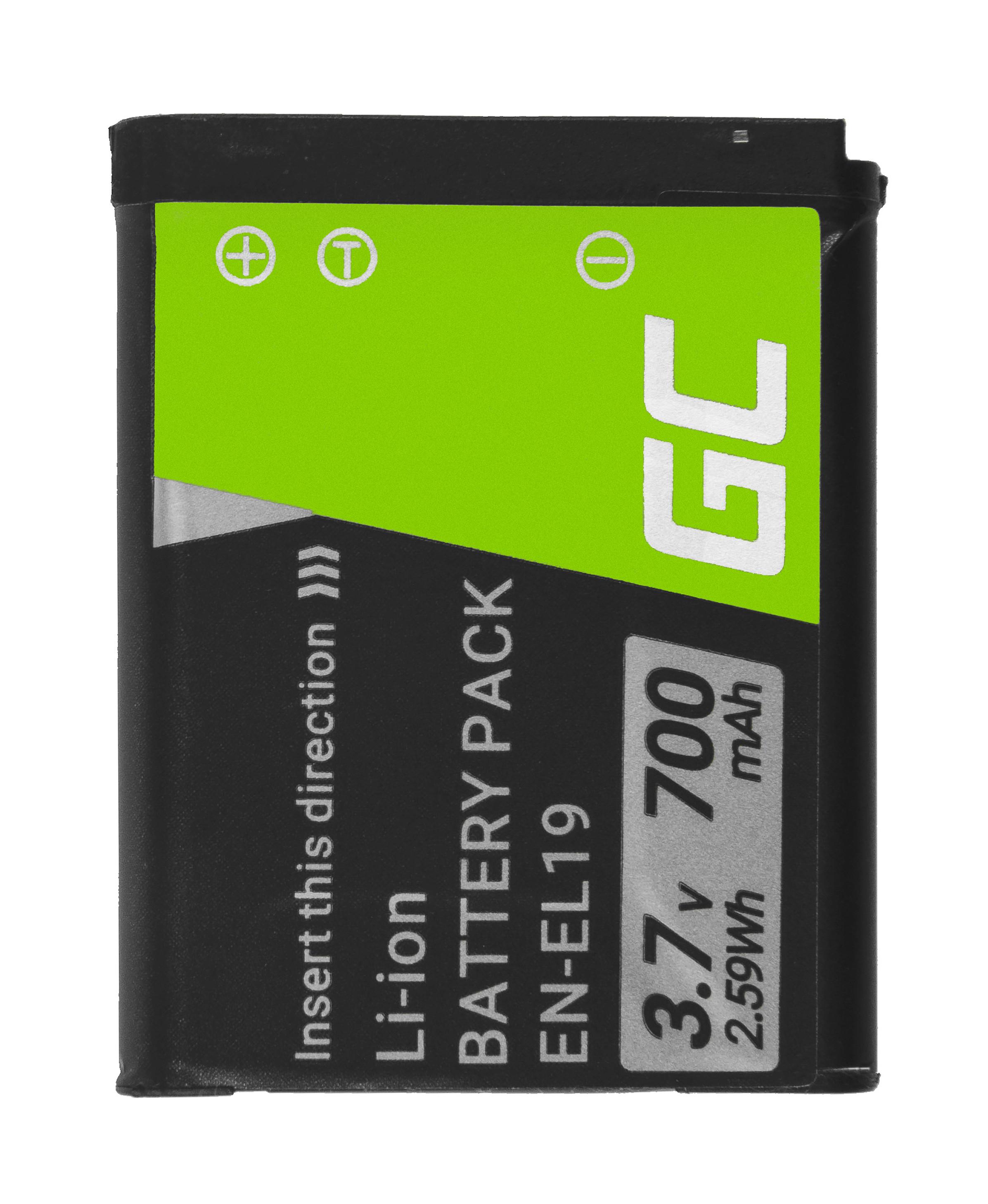 Baterie Green Cell Nikon Coolpix EN-EL19 670mAh Li-ion - neoriginální