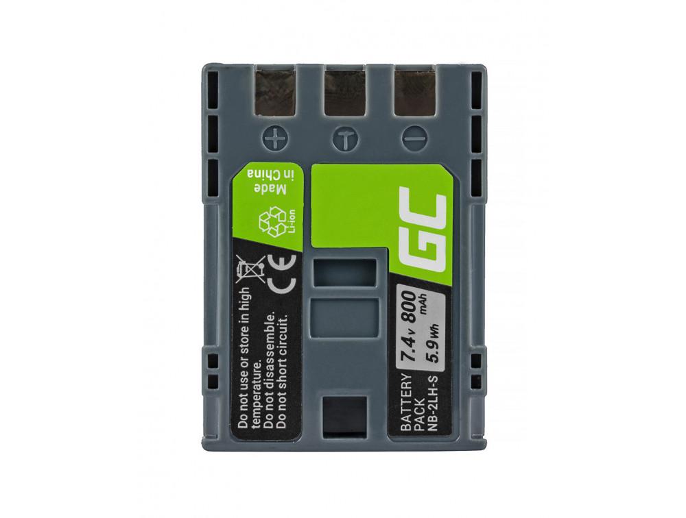Green Cell akkumulátor NB-2L / NB-2LH Canon PowerShot G7 G9 S70 S80 R100 R11 Canon Elura 85 90 EOS 350D 400D 7,4V 800mAh