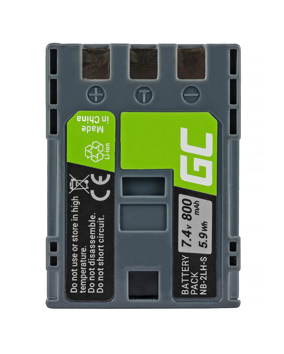 Green Cell Battery NB-2L / NB-2LH Canon PowerShot G7 G9 S70 S80 R100 R11 Canon Elura 85 90 EOS 350D 400D 7.4V 700mAh