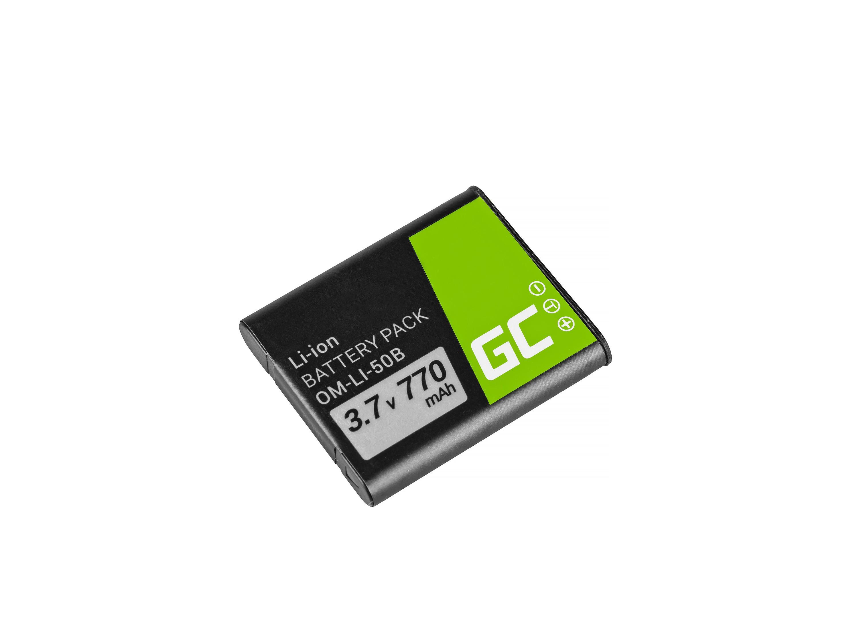 Green Cell Baterie Li-50B pro Olympus SZ-15, SZ-16, Tough 6000, 8000, TG-820, TG-830, TG-850, VR-370, XZ-1, XZ-10 3.7V 770mAh