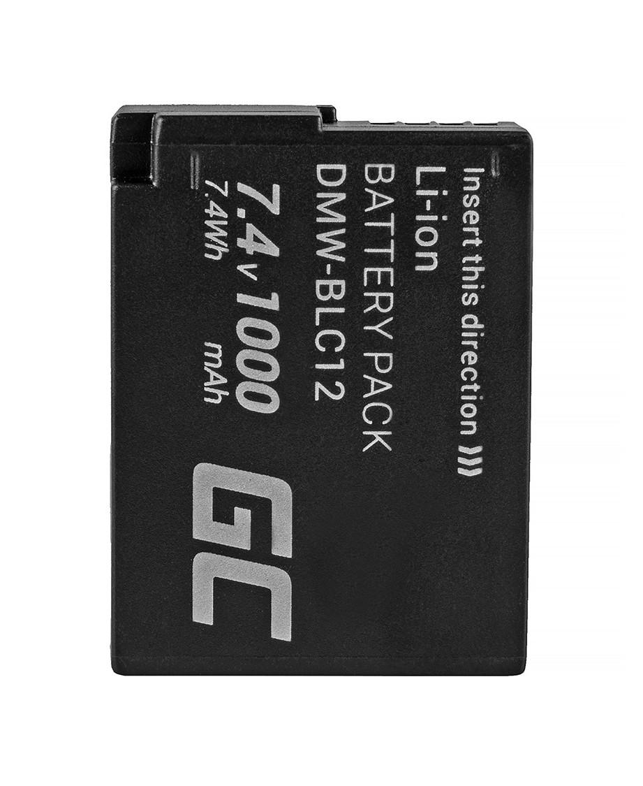 Green Cell Battery DMW-BLC12 Panasonic FZ2000, G81, FZ1000, FZ300, G6M, GX8M, G70M, G70KA, GX8EG-K, GX8, G70 7.4V 1000mAh
