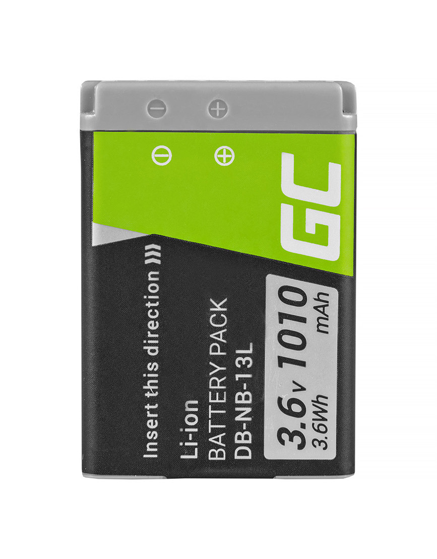 Green Cell NB-13L Camera Battery for Canon PowerShot G5 X, G7 X, G7 X Mark II, G9 X, SX620 HS, SX720 HS, SX730 HS 3.6V 1010mAh