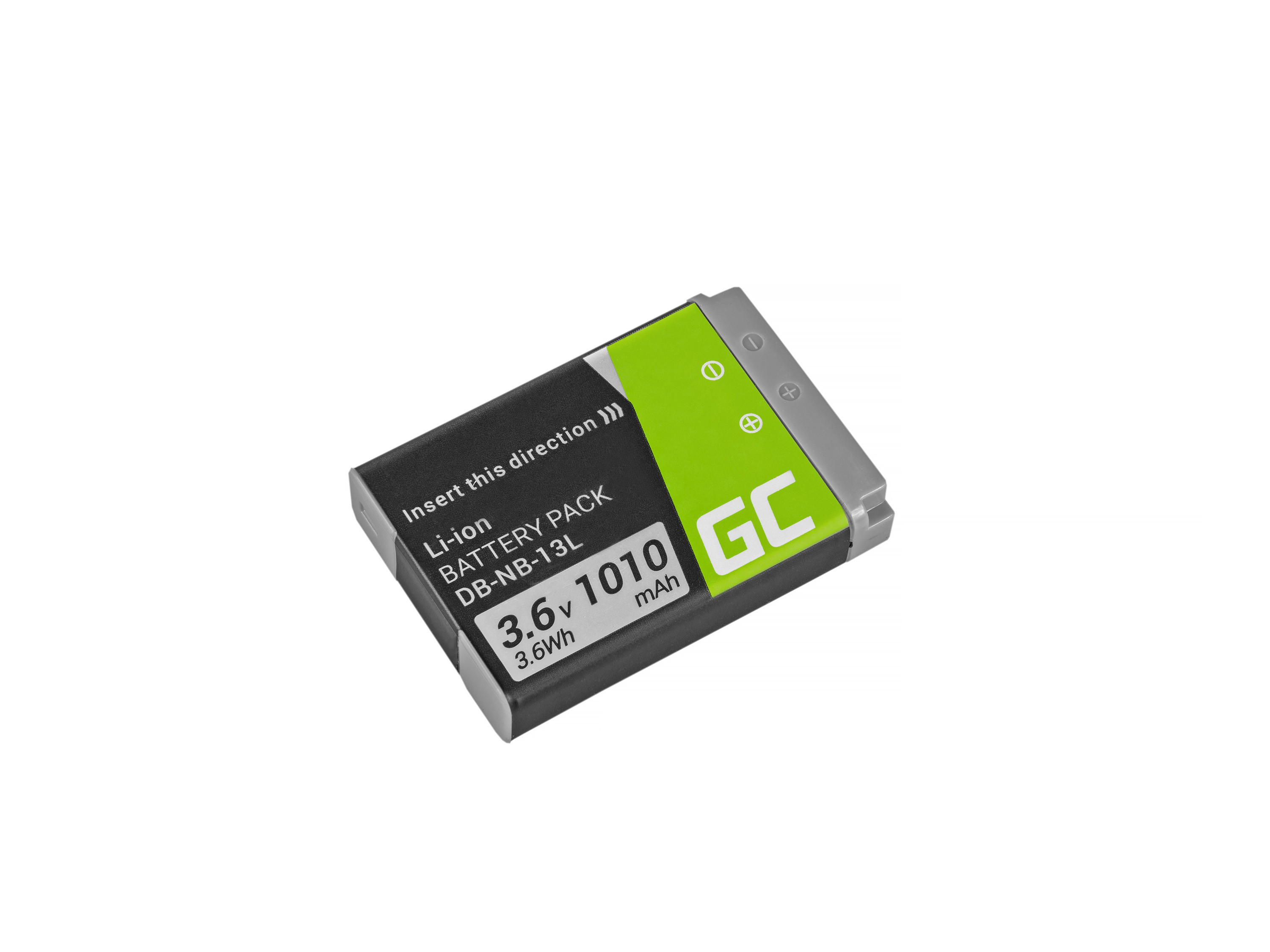 Green Cell NB-13L Baterie pro Canon PowerShot G5 X, G7 X, G7 X Mark II, G9 X, SX620 HS, SX720 HS, SX730 HS 3.6V 1010mAh
