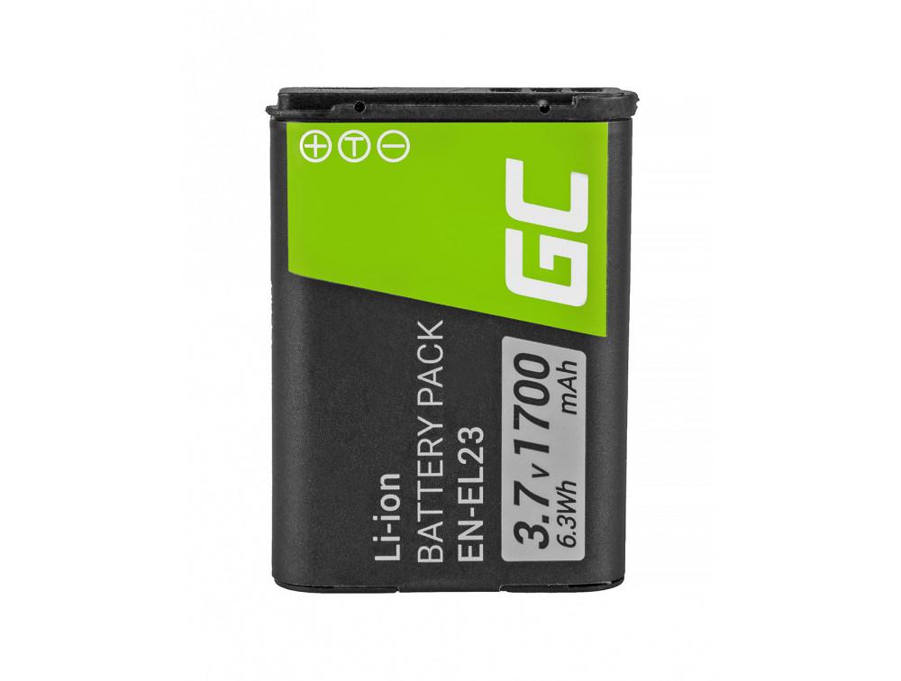 Green Cell akkumulátor EN-EL23 Nikon Coolpix B700, P600, P610, P900, S810C 3,7V 1700mAh