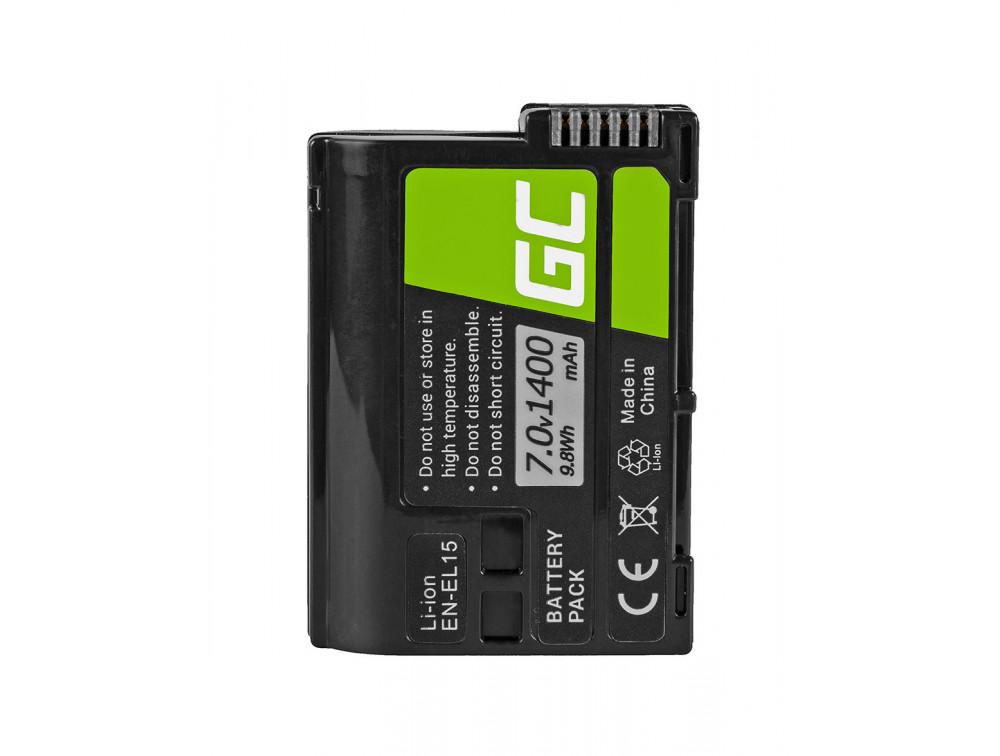 Green Cell akkumulátor EN-EL15 Nikon D850, D810, D800, D750, D7500, D7200, D7100, D610, D600 7.0V 1400mAh