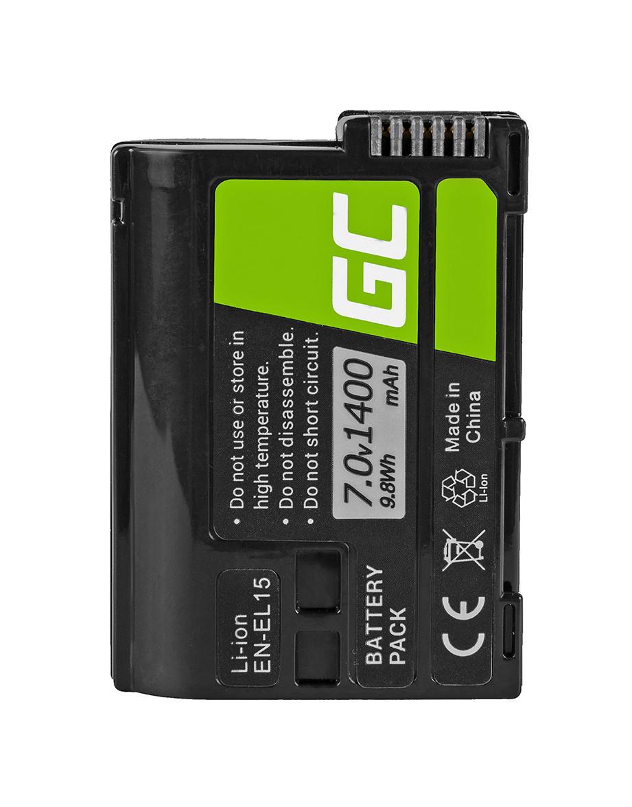 Baterie Green Cell Nikon EN-EL15 Nikon D850, D810, D800, D750, D7500, D7200, D7100, D610, D600 1400mAh Li-ion - neoriginální
