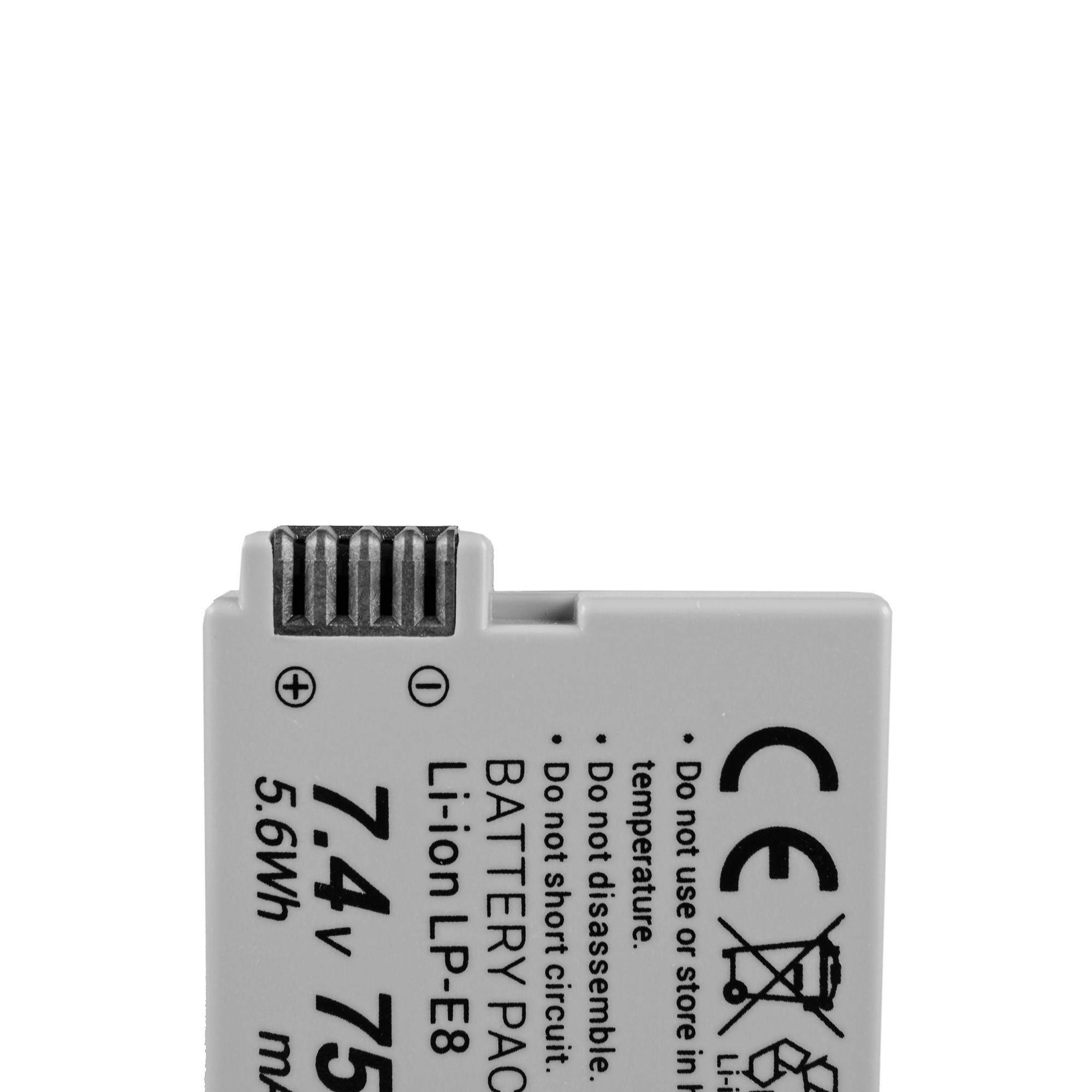 Green Cell Battery LP-E8 ® Canon EOS Rebel T2i, T3i, T4i, T5i, EOS 600D, 550D, 650D, 700D, Kiss X5, X4, X6 7.4V 750mAh