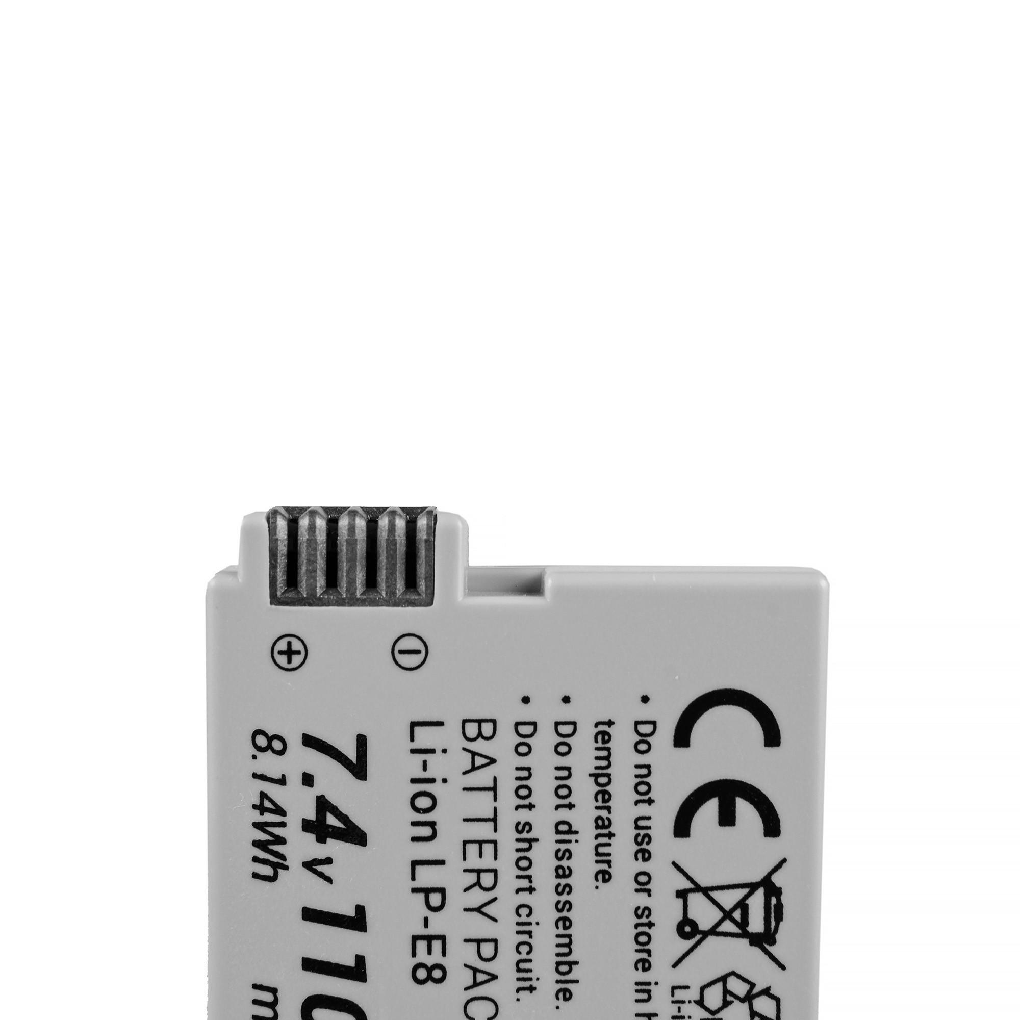 Green Cell Baterie LP-E8   Canon EOS Rebel T2i, T3i, T4i, T5i, EOS 600D, 550D, 650D, 700D, Kiss X5, X4, X6 7.4V 1100mAh