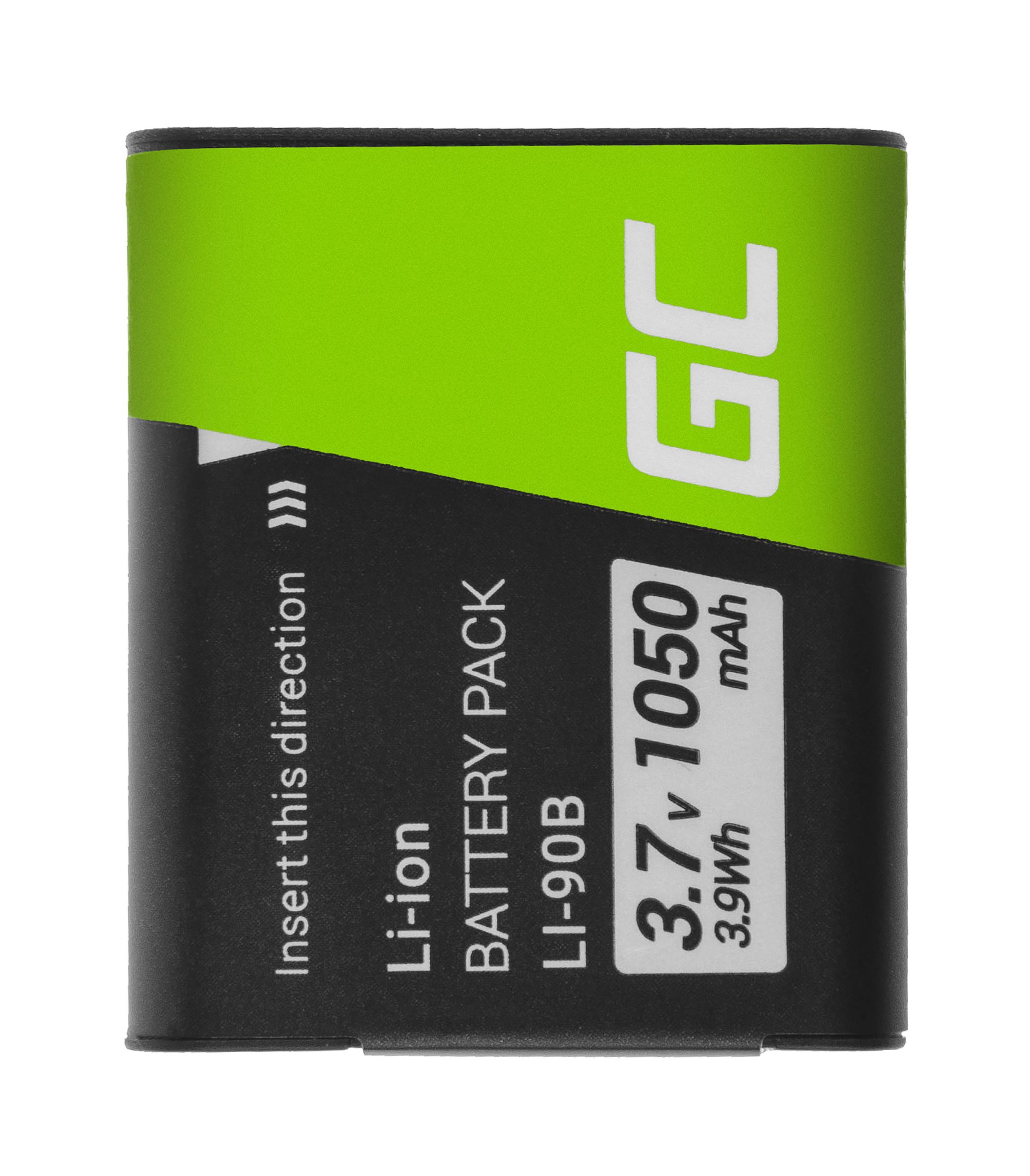 Green Cell Baterie Li-90B/Li-92B  pro Olympus Tough TG-1 TG-2 TG-3 TG-Tracker Stylus SH-1 SP-100 XZ-2 VoiSquare 3.7V 105