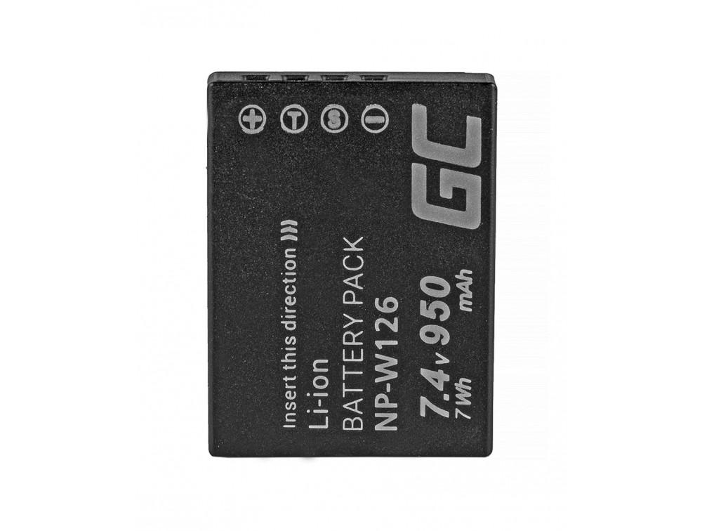 Green Cell akkumulátor NP-W126 Fujifilm FinePix HS30EXR, 4V 950mAh