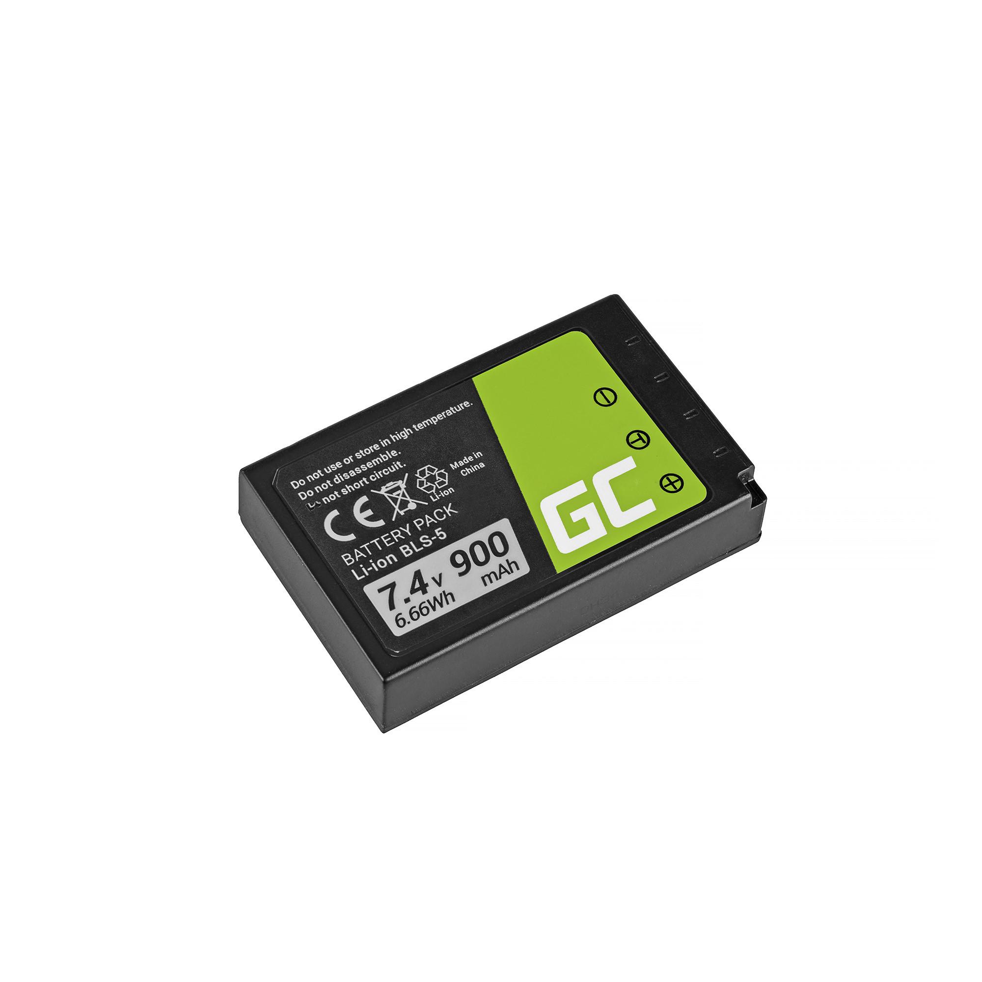Baterie Green Cell Olympus BLS-5 / BLS-50 Olympus OM-D E-M10, PEN E-PL2, E-PL5, E-PL6, E-PL7, E-PM2 900mAh Li-ion - neoriginální