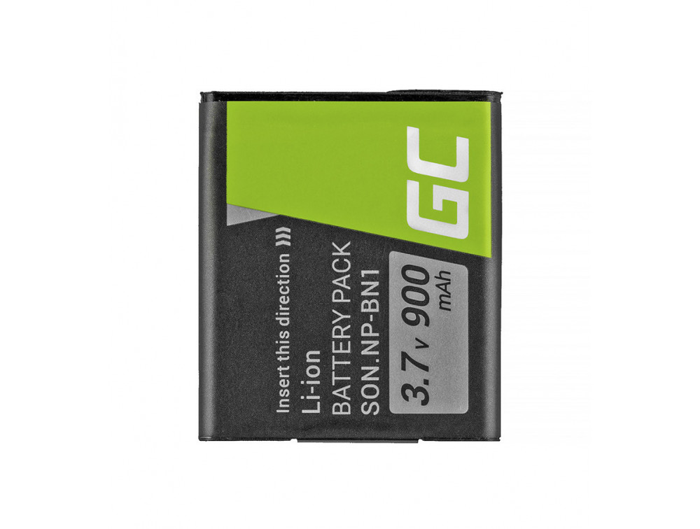 Green Cell akkumulátor NP-BN1 Sony Cyber-shot DSC-QX10 DSC-QX100 DSC-TF1 DSC-TX10 DSC-W530 DSC-W650 DSC-W800 3.7V 630mAh