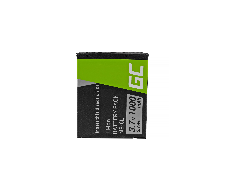 Green Cell Baterie NB-6L/6LH Canon PowerShot SX510 HS, SX520 HS, SX530 HS, SX600 HS, SX700 HS, D30, S90, S120 3.7V 1000mAh