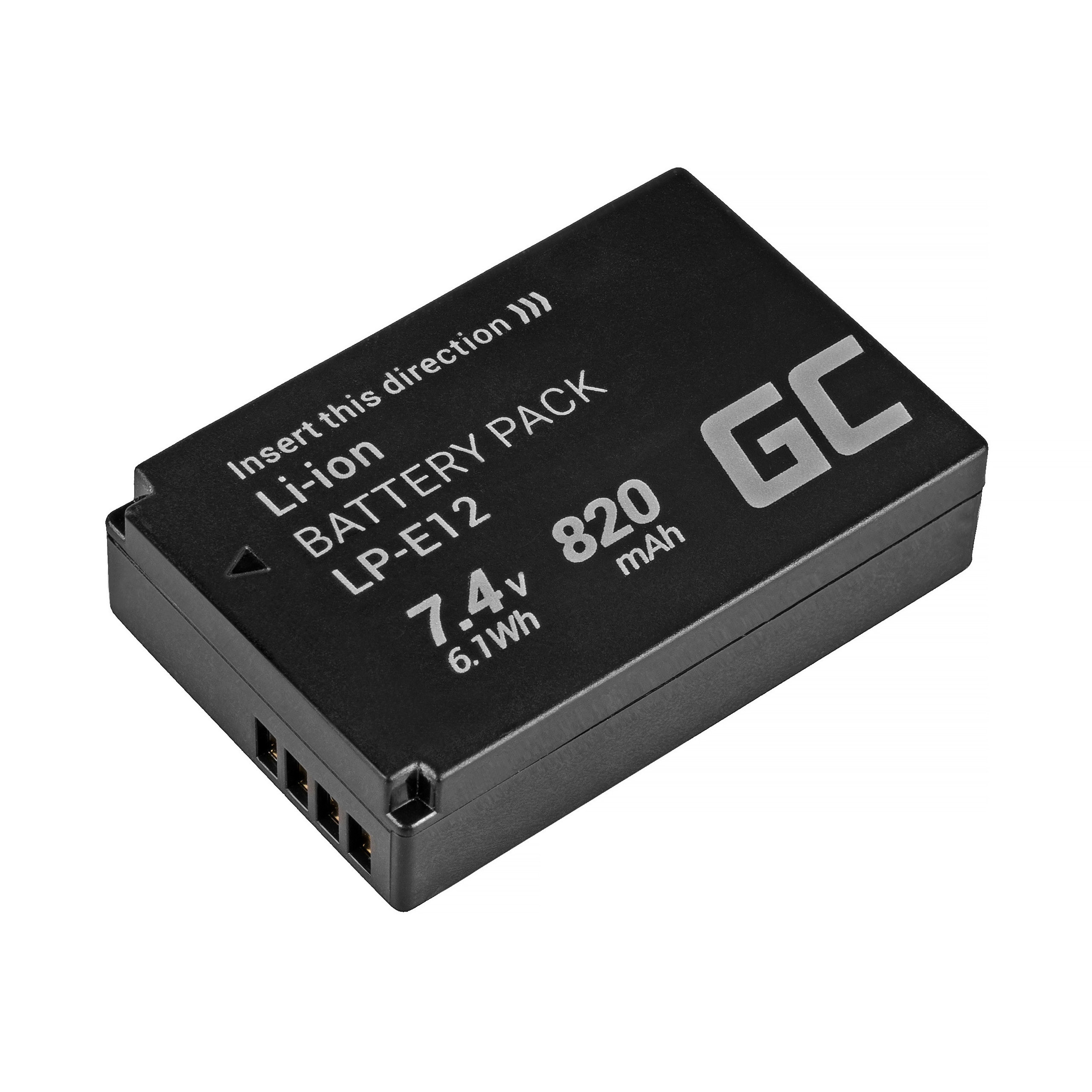 Green Cell LP-E12 Camera Battery for Canon EOS M100, EOS100D, EOS-M, EOS M2, EOS M10, Rebel SL1 7.4V 820mAh