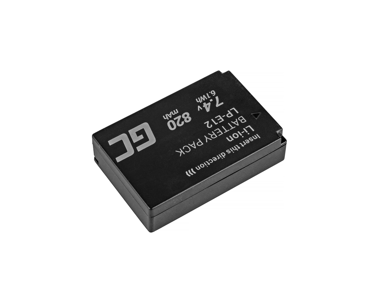 Green Cell LP-E12 Baterie pro Canon EOS M100, EOS100D, EOS-M, EOS M2, EOS M10, Rebel SL1 7.4V 820mAh