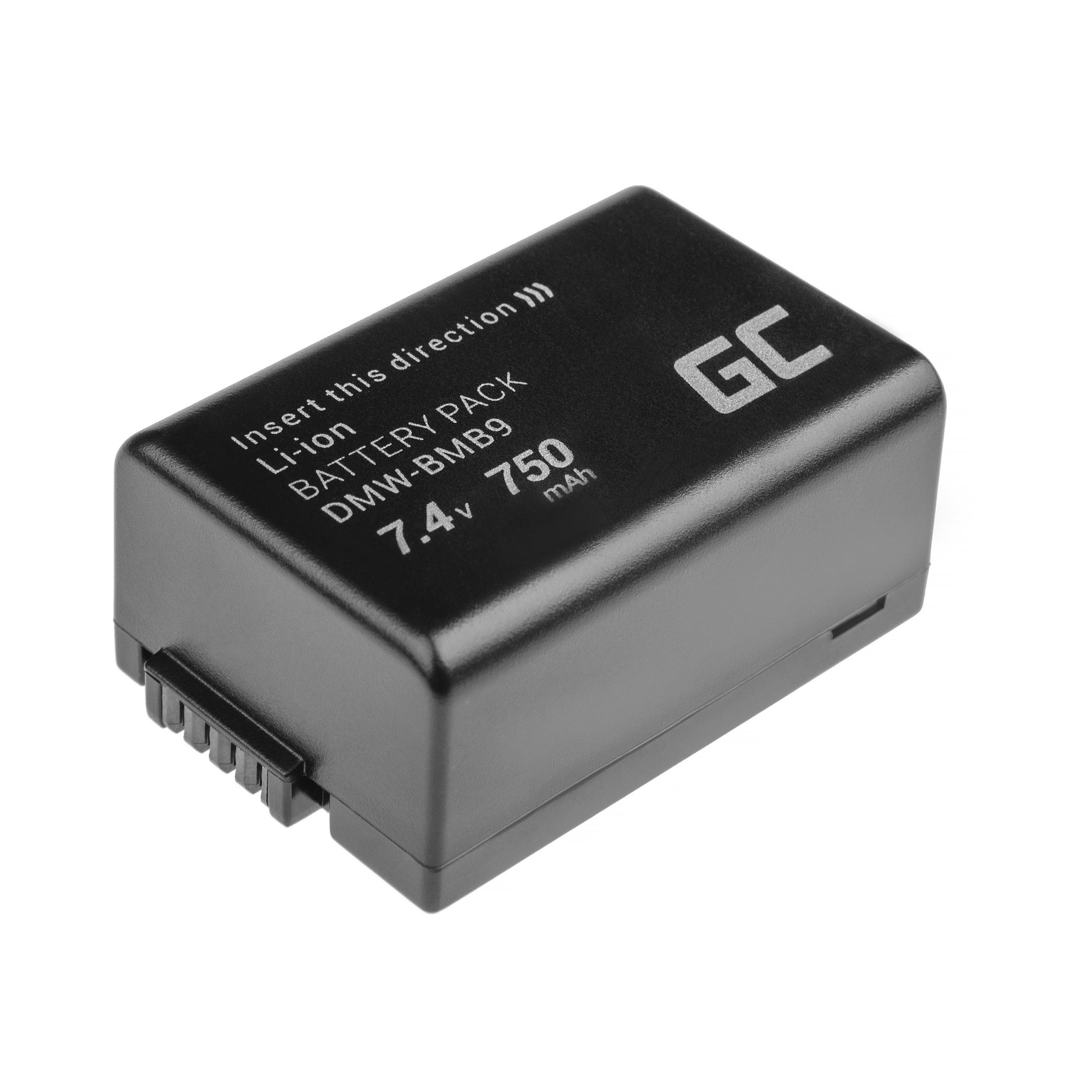 Green Cell Baterie DMW-BMB9 Panasonic Lumix DMC-FZ70, DMC-FZ60, DMC-FZ100, DMC-FZ40, DMC-FZ47, DMC-FZ150 7.4V 750mAh