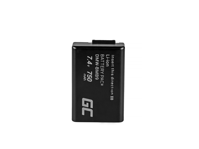 Green Cell Battery DMW-BMB9 Panasonic Lumix DMC-FZ70, DMC-FZ60, DMC-FZ100, DMC-FZ40, DMC-FZ47, DMC-FZ150 7.4V 750mAh
