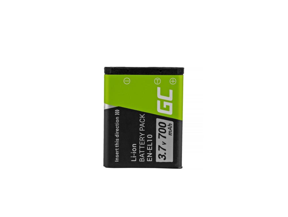 Green Cell akkumulátor EN-EL10 Nikon Coolpix S60, S80, S200, S210, S220, S500, S520, S3000 3.7V 700mAh