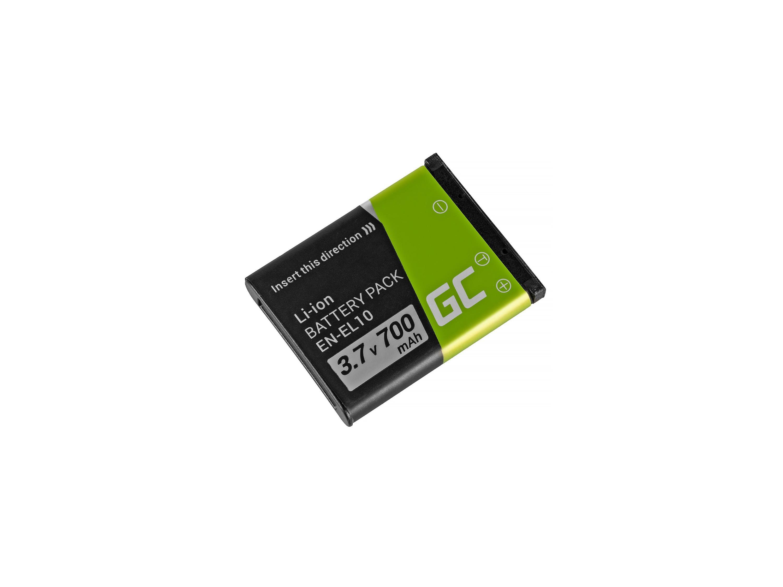 Baterie Green Cell Nikon EN-EL10 Nikon Coolpix S60, S80, S200, S210, S220, S500, S520, S3000 700mAh Li-ion - neoriginální
