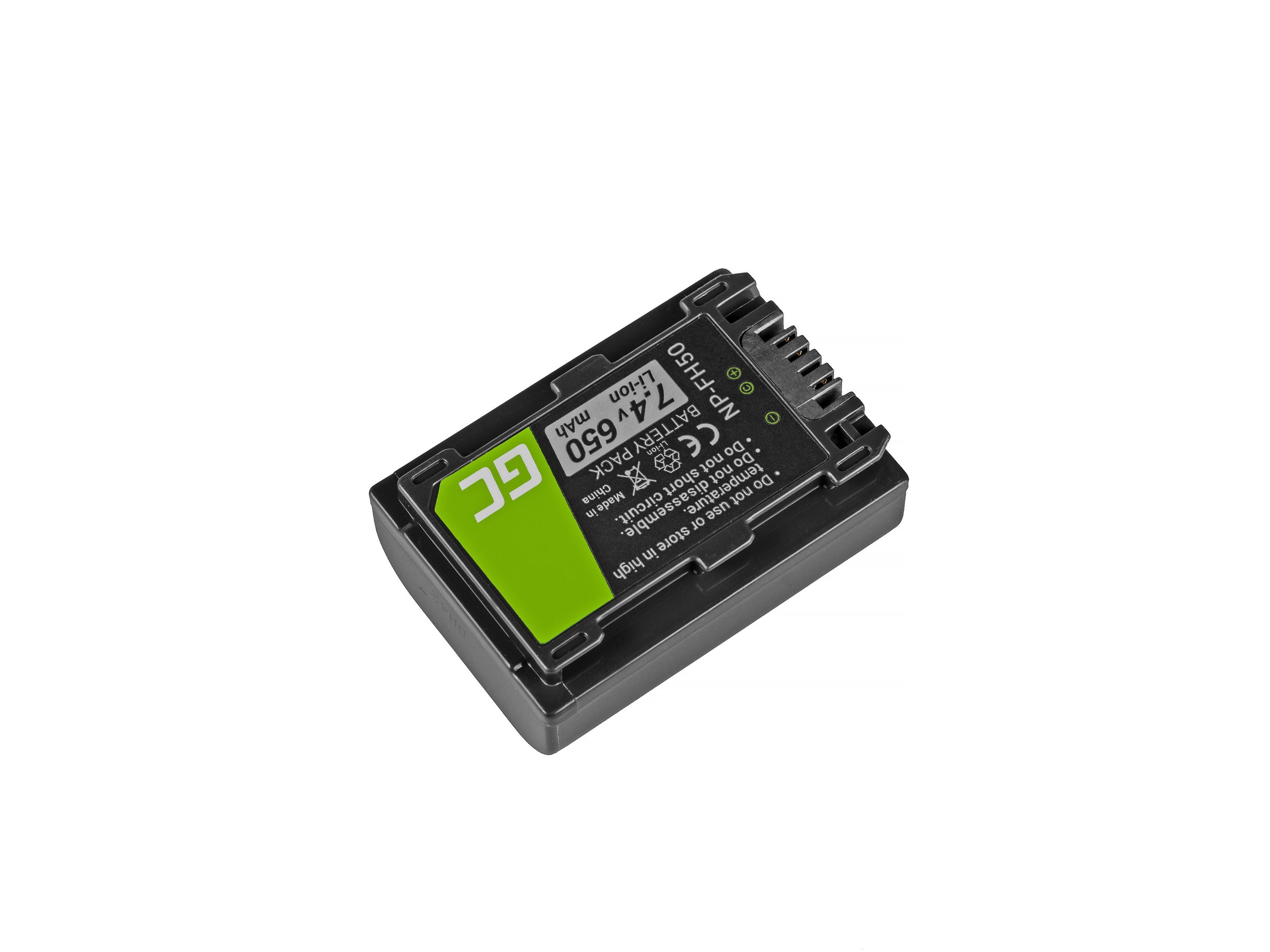Green Cell NP-FH50 Camera Battery for Sony DCR-HC45, DCR-SR300E, DCR-SR70, DCR-SX50E 7.4V 650mAh
