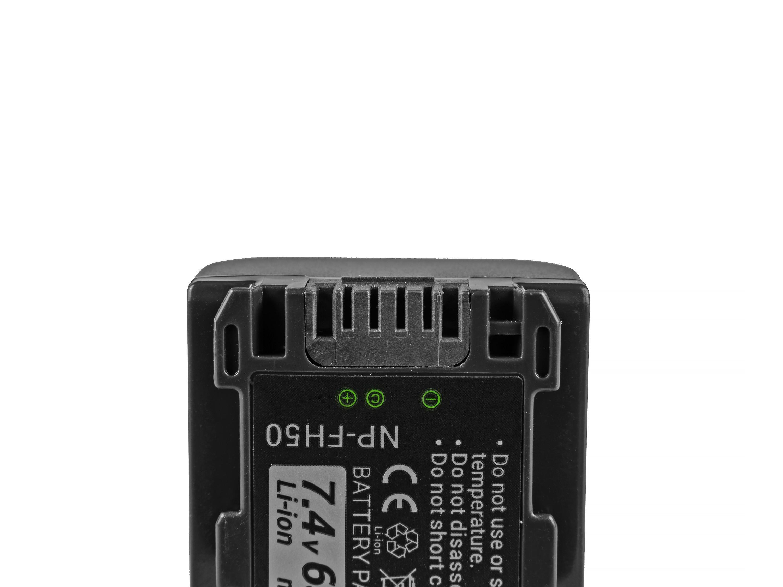Baterie Green Cell Sony NP-FH50 Sony DCR-HC45, DCR-SR300E, DCR-SR70, DCR-SX50E 650mAh Li-ion - neoriginální