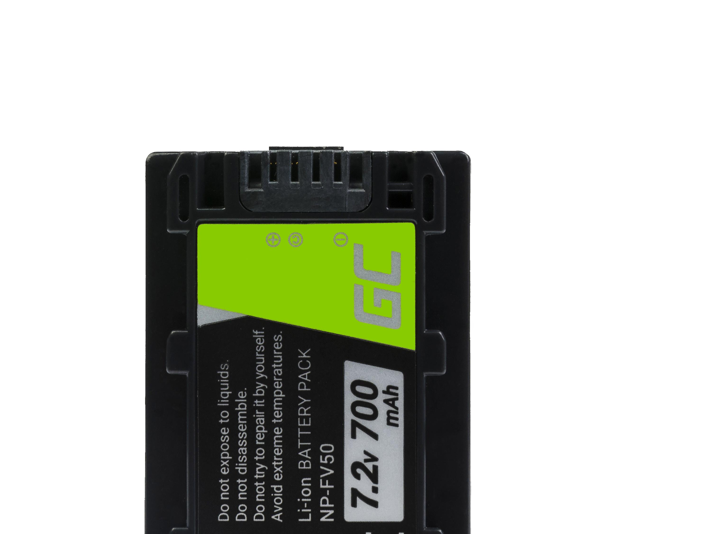 Green Cell Baterie pro Sony DCR-DVD506E DCR-DVD510E HDR-CX116E HDR-CX130 HDR-CX155E HDR-UX9E 7.2V 700mAh