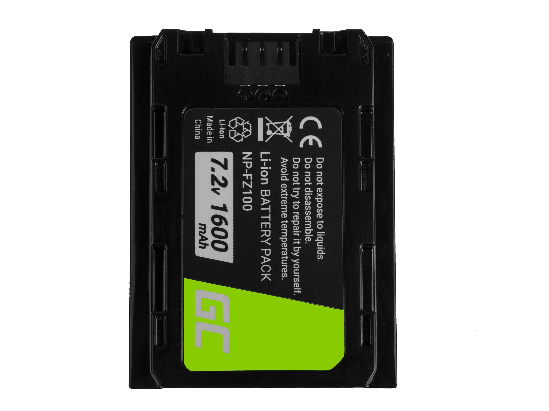Baterie Green Cell Baterie Sony Alpha A7 III A7R III A9 A9R A9S ILCE-7M3 7RM3 7.2V 1600mAh Li-ion - neoriginální