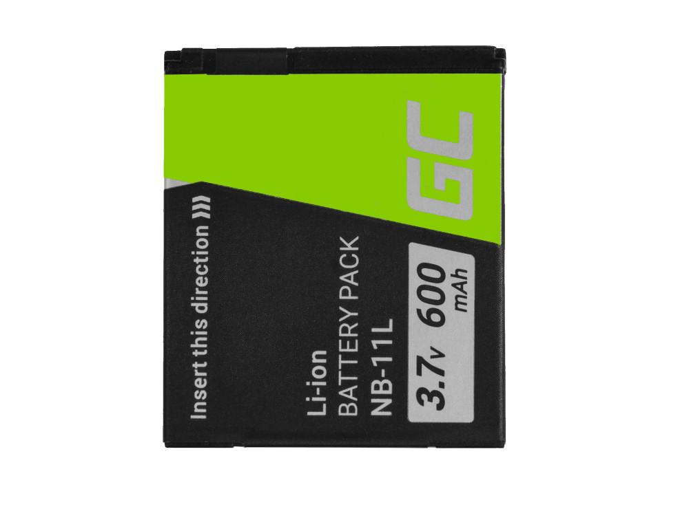 Green Cell digitális kamera akkumulátor Canon PowerShot A2300 IS A2400 IS A3400 IS A3500 IS SX400 SX410 SX420 IS 9 3.7V 600mAh