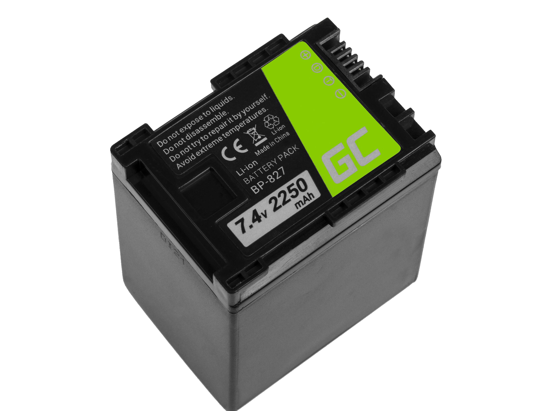 Baterie Green Cell Canon BP-807/BP-827 Canon VIXIA HF G10 HF G20 HF M30 HF M3 HF M32 HF M40 HF M300 XA10 2250mAh Li-ion - neoriginální