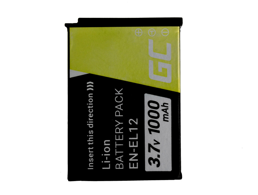 Green Cell digitális fényképezőgép akku Nikon Coolpix AW100 AW110 AW120 S9500 S9300 S9200 S9100 S8200 S8100 S6300 3.7V 1000mAh