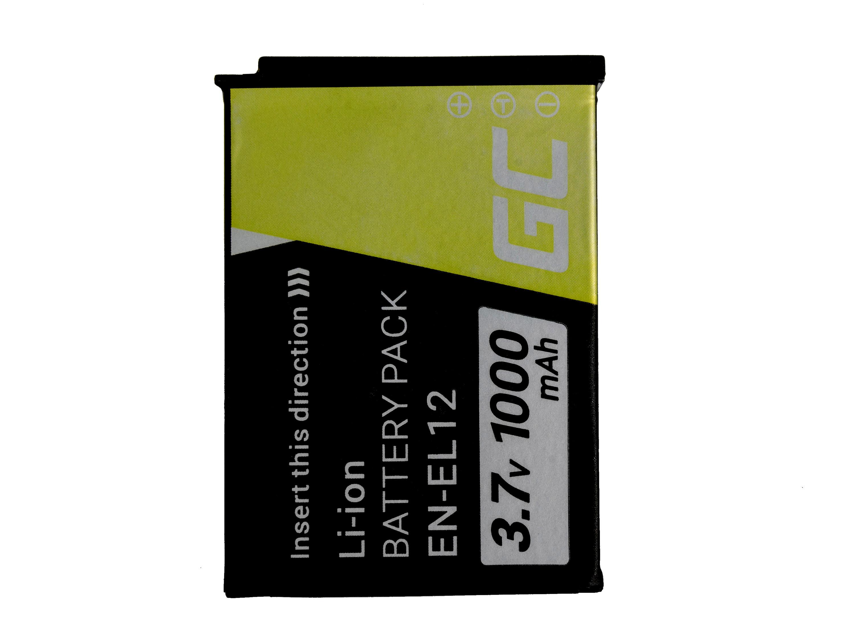 Baterie Green Cell Nikon EN-EL12 Coolpix AW100 AW110 AW120 S9500 S9300 S9200 S9100 S8200 S8100 S6300 1000mAh Li-ion - neoriginální