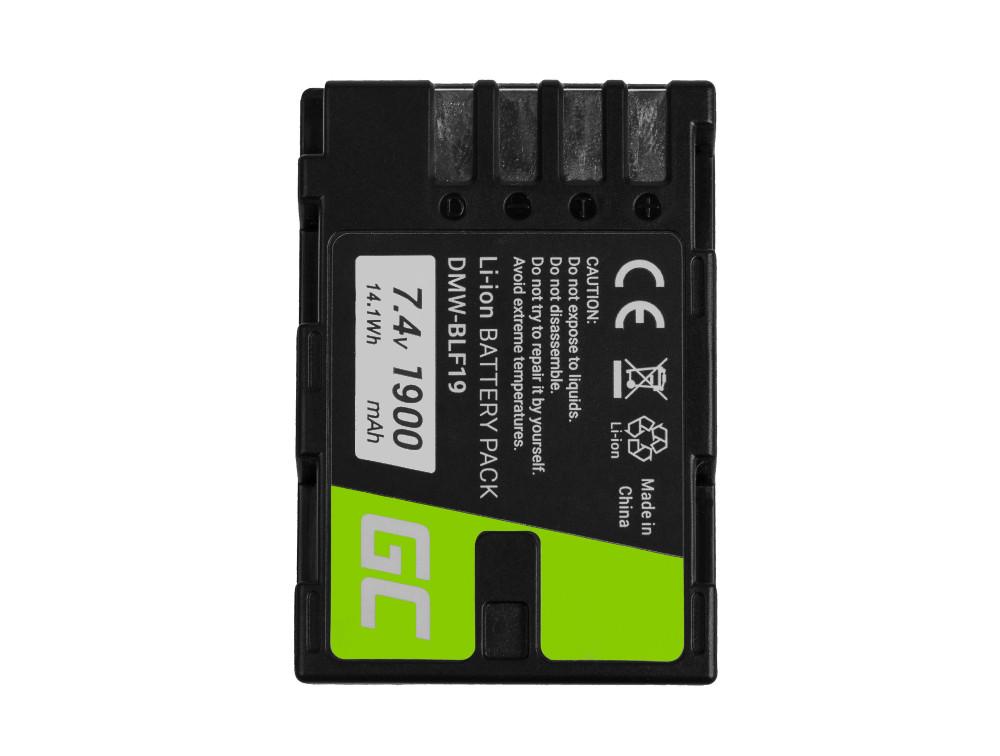 Green Cell Baterie pro Panasonic Lumix DC-G9 DC-GH5 DC-GH5s DMC-G9 DMC-GH3 DMC-GH4 7.2V 1860mAh