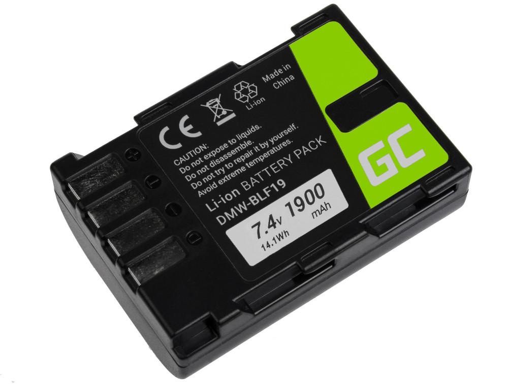 Baterie Green Cell Panasonic DMW-BLF19 Panasonic Lumix DC-G9 DC-GH5 DC-GH5s DMC-G9 DMC-GH3 DMC-GH4 1860mAh Li-ion - neoriginální