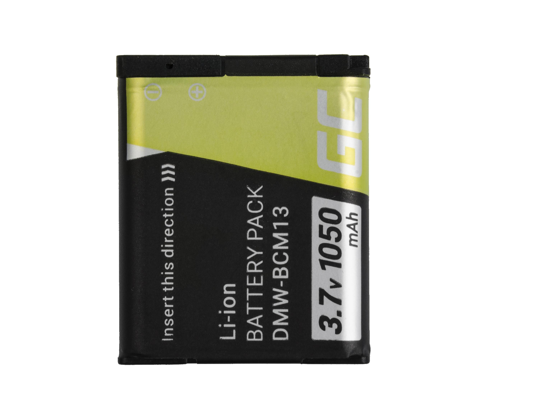 Baterie Green Cell Baterie Panasonic Lumix DMC-FT5 DMC-TS5 DMC-TZ40 DMC-TZ60 DMC-ZS30 DMC-ZS40/ZS50 3.7V 1050mAh Li-ion - neoriginální