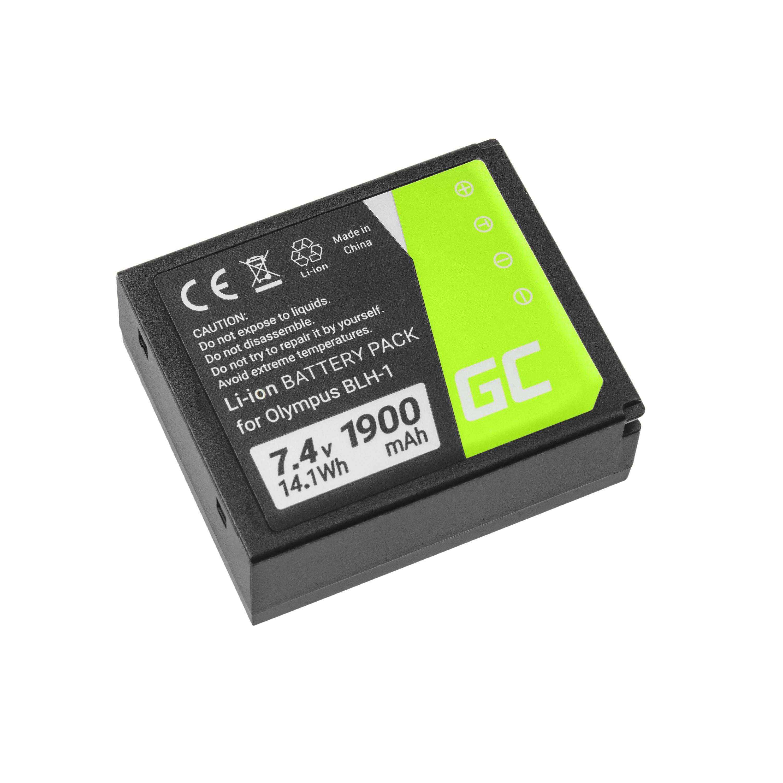 Baterie Green Cell Olympus BLH-1, pro Olympus OM-D E-M1 Mark 2 7.4V 1900mAh Li-Ion – neoriginální