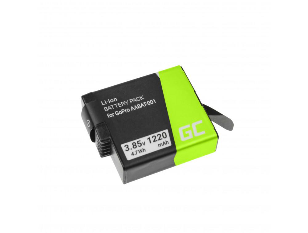 Green Cell AHDBT-501 AABAT-001 kamera akkumulátor GoPro HD HERO5 HERO6 HERO7 Fekete 3.85V 1220mAh