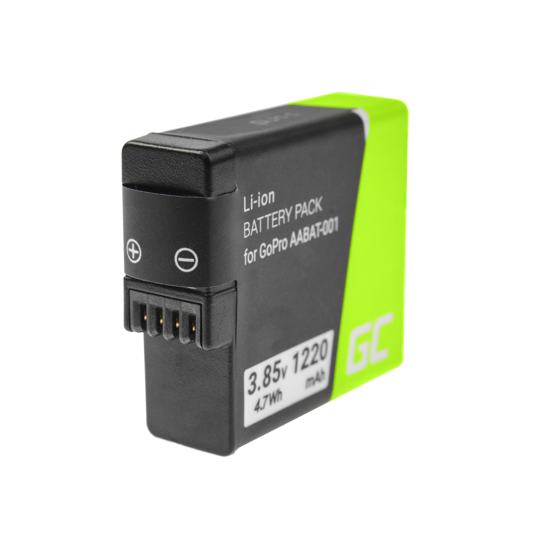 Baterie Green Cell AHDBT-501 AABAT-001, pro GoPro HD HERO5 HERO6 HERO7 Black 3.85V 1220mAh Li-Ion – neoriginální
