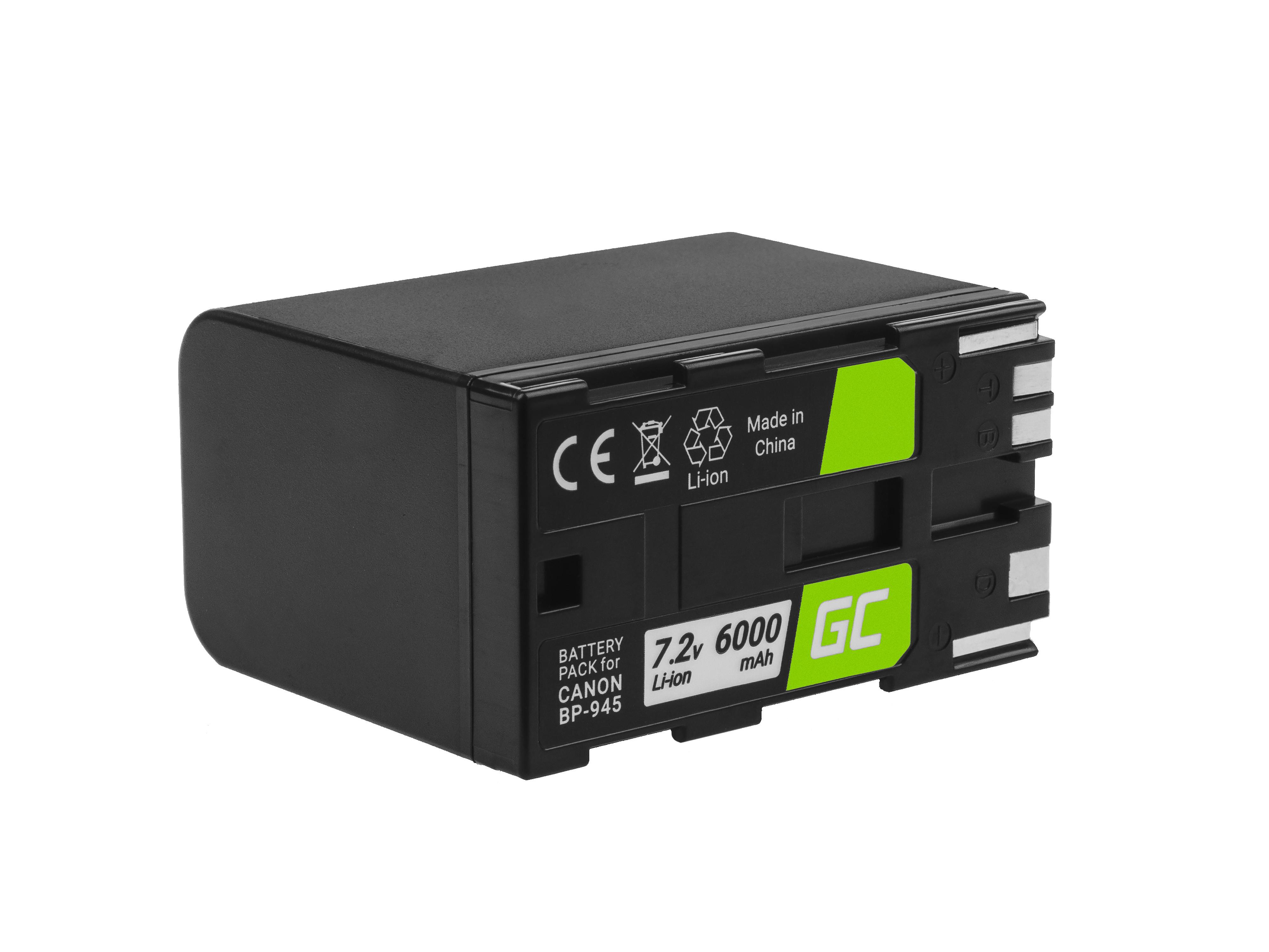Baterie Green Cell Canon BP-80 BP-941 BP-945, pro Canon DM-XL1, ES5000, XL1 7.2V 6000mAh Li-ion - neoriginální