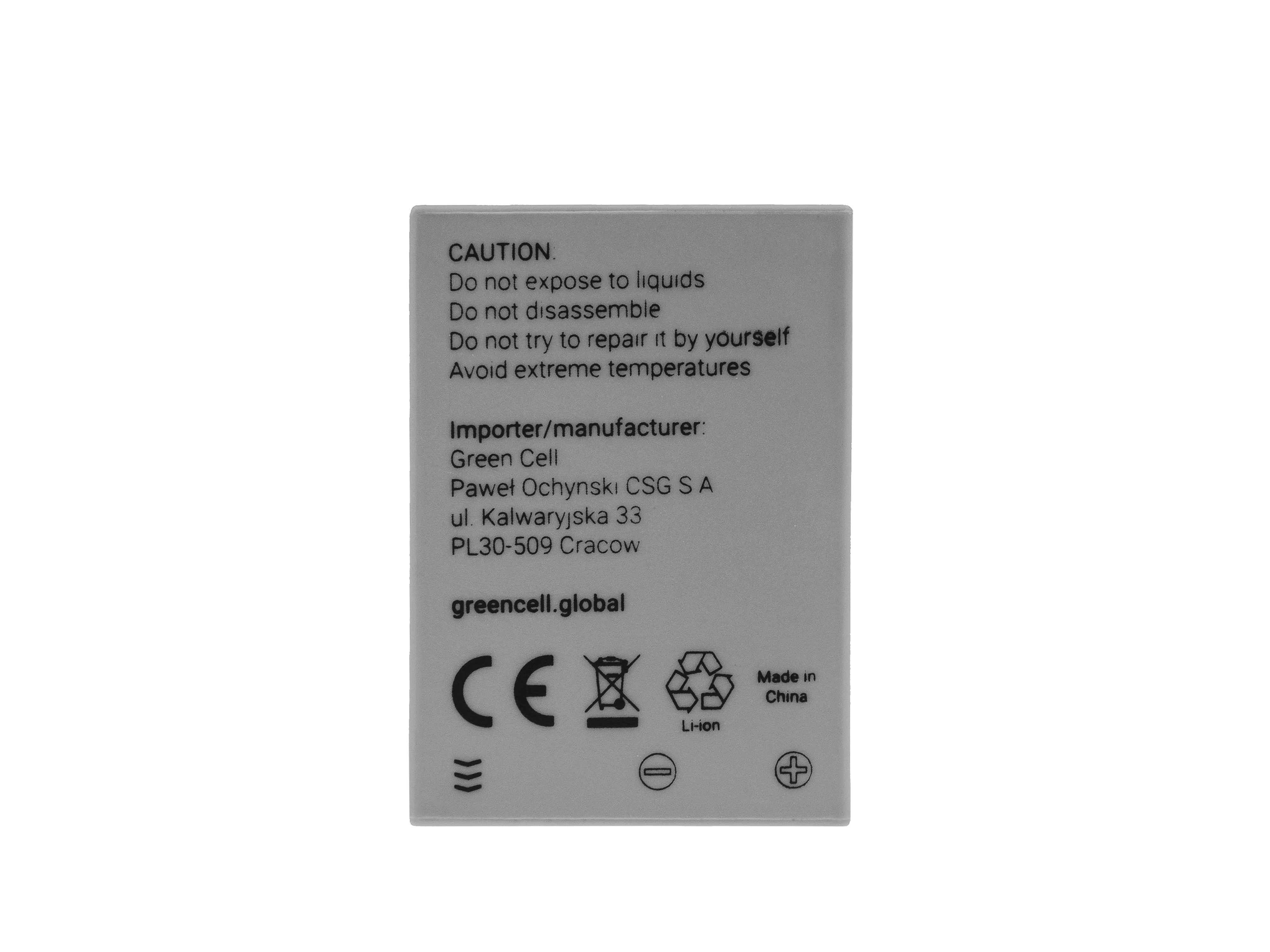 Battery Green Cell ® NB-7L NB7L for cameras Canon PowerShot G10, G11, G12, SX30 IS 7.4V 750mAh