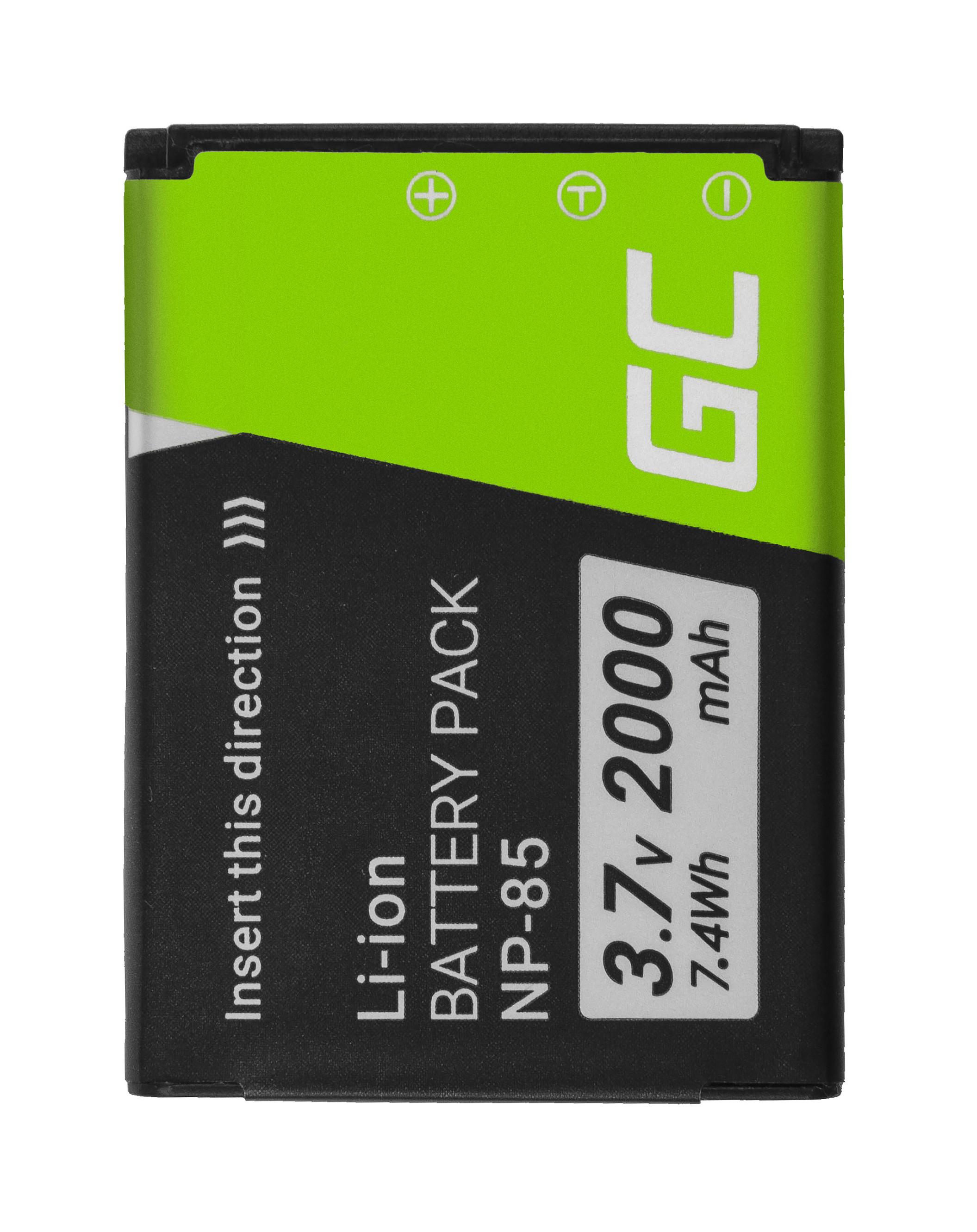 Baterie Green Cell FujiFilm NP-85 NP85, pro FujiFilm FinePix SL300, SL305, SL280, SL260, SL240 3.7V 2000mAh Li-ion - neoriginální