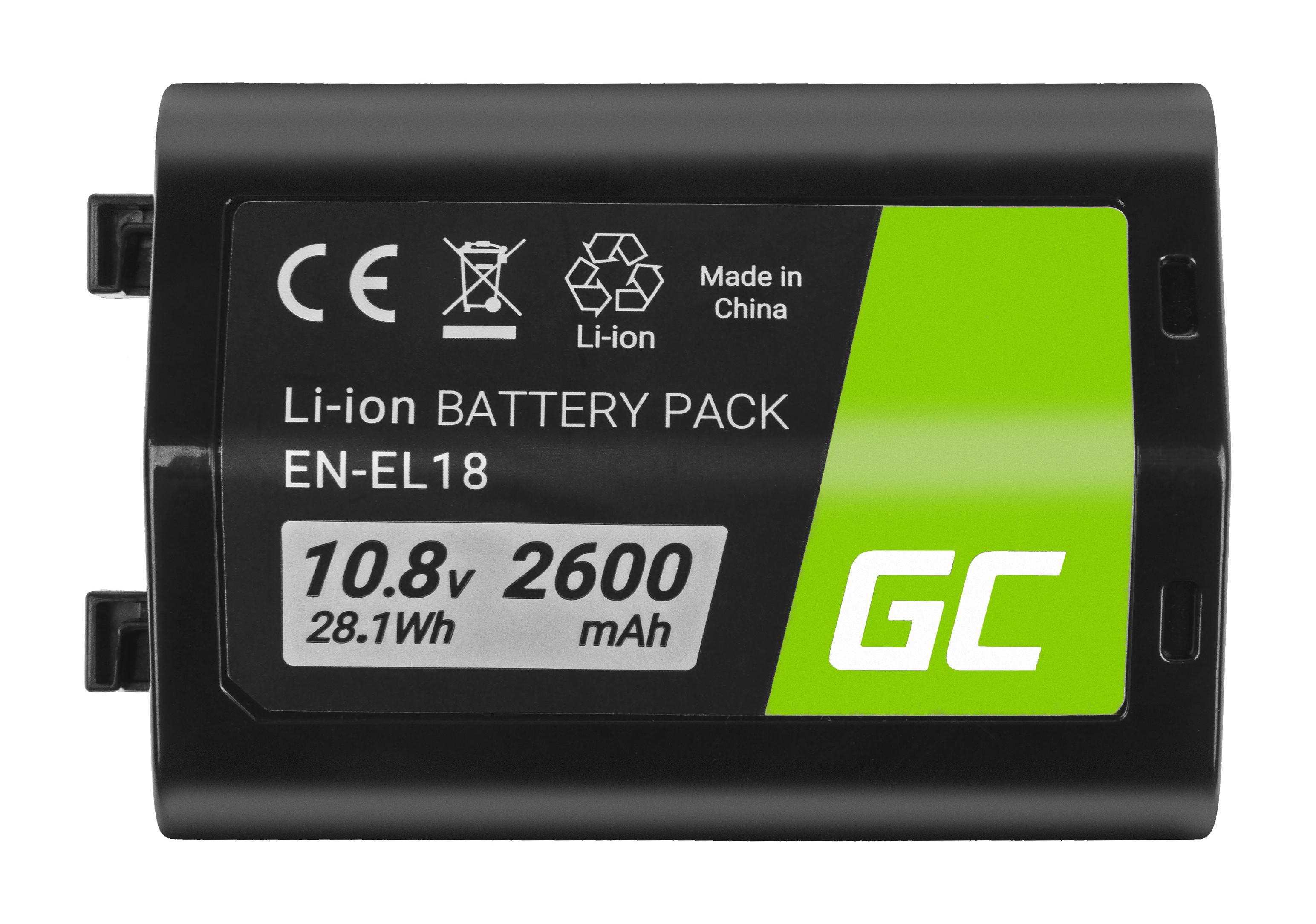 Baterie Green Cell Nikon EN-EL18 ENEL18, pro Nikon D4, D4S, D5 10.8V 2600mAh Li-ion - neoriginální