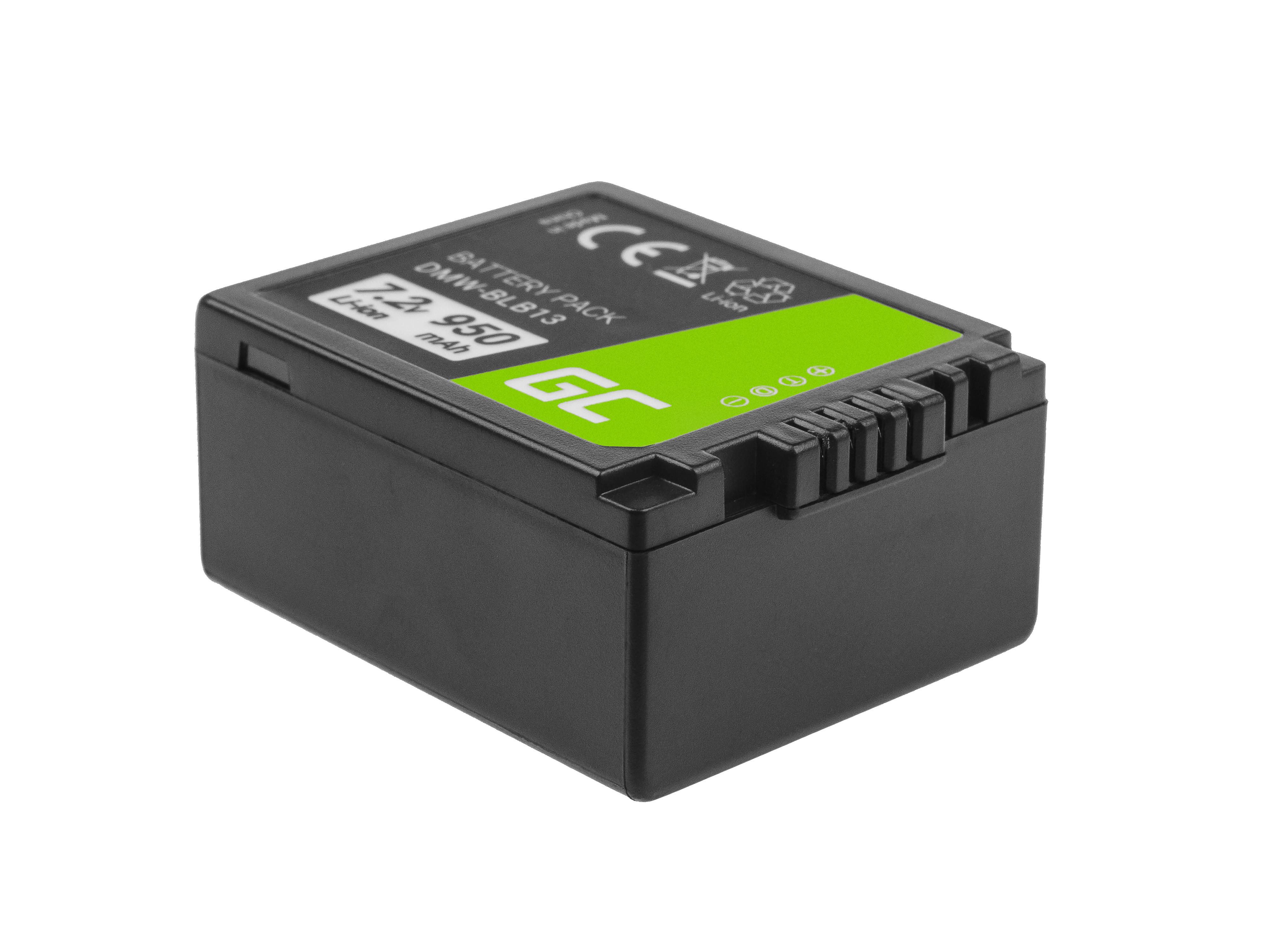 Baterie Green Cell Panasonic DMW-BLB13 DMWBLB13, pro Panasonic Lumix DMC-G1 7.2V 950mAh Li-Ion – neoriginální