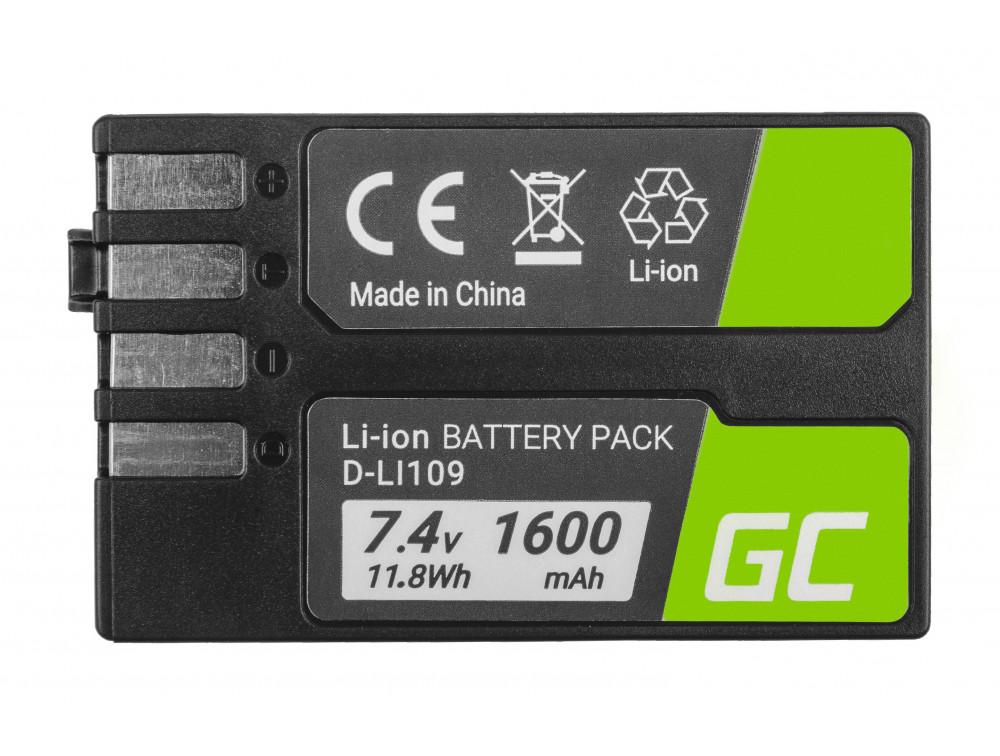 Akkumulátor Green Cell DLi109 DLi109 Pentax K-R, K-2, K-30, K-50, K-500, K-S1, K-S2 7,4V 1600mAh